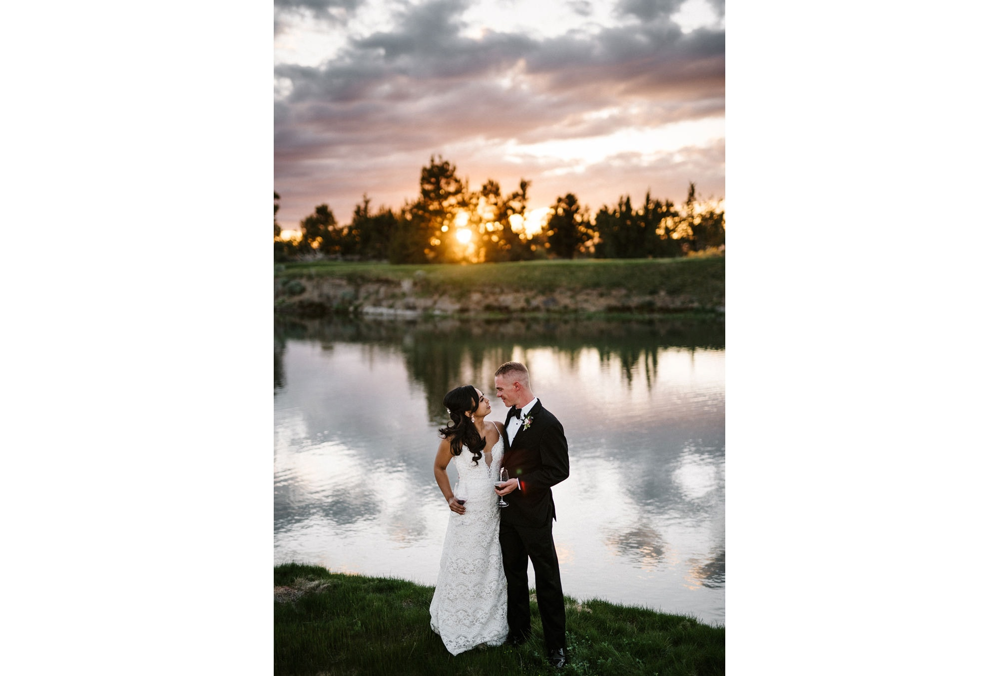 Wedding photos from pronghorn resort located in Bend Oregon