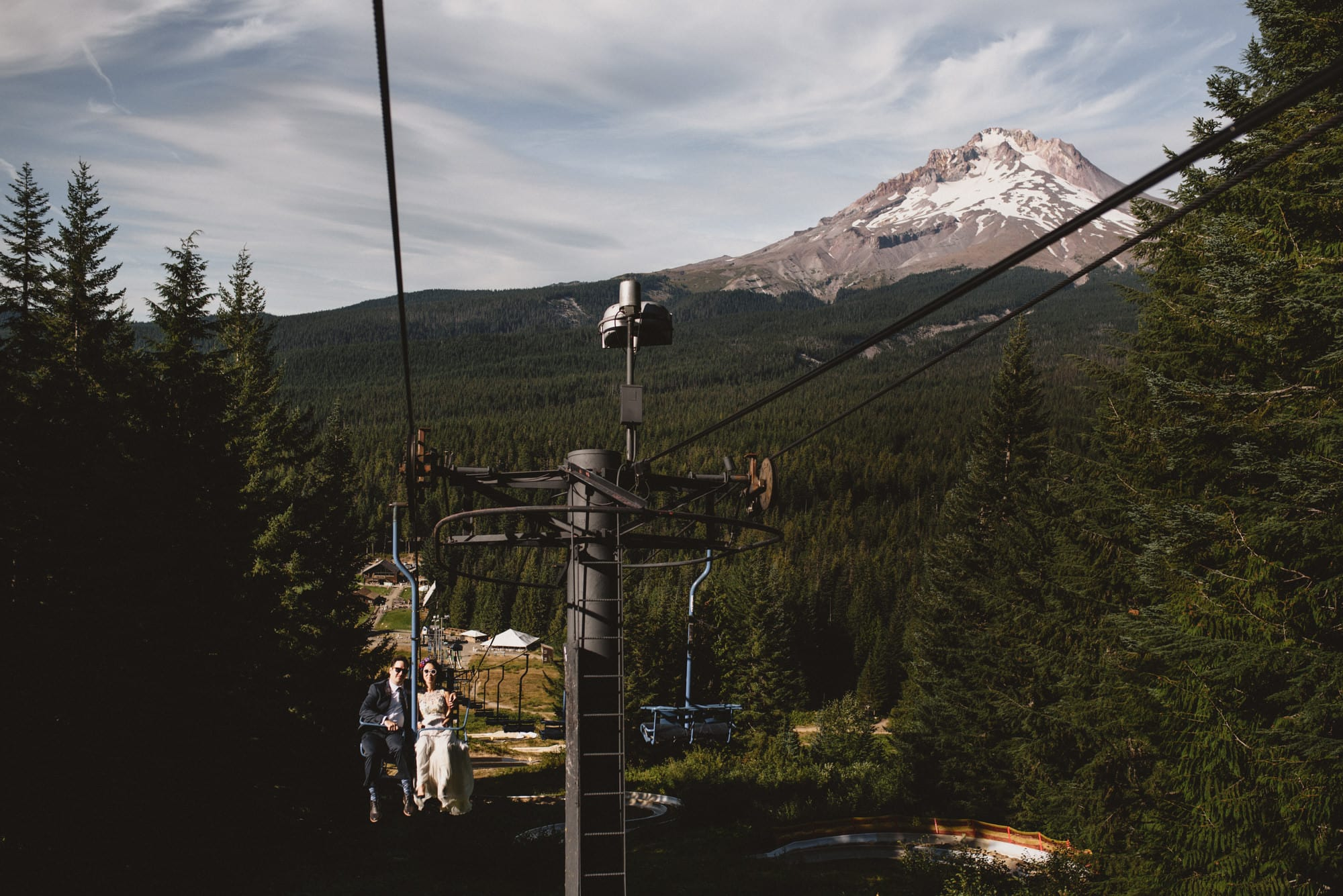 Mount Hood Skibowl Wedding Ceremony Reception Photos
