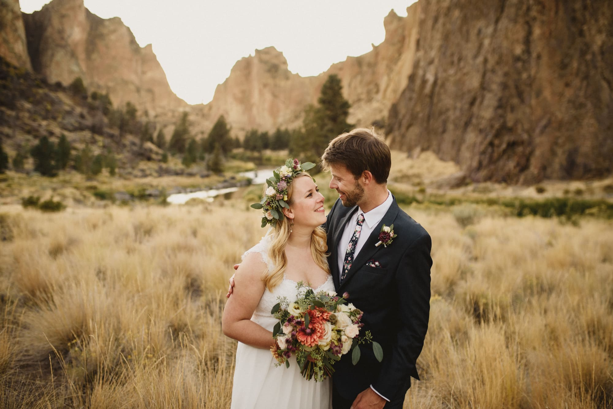 Bend Oregon Elopement Smith Rock Sparks Lake