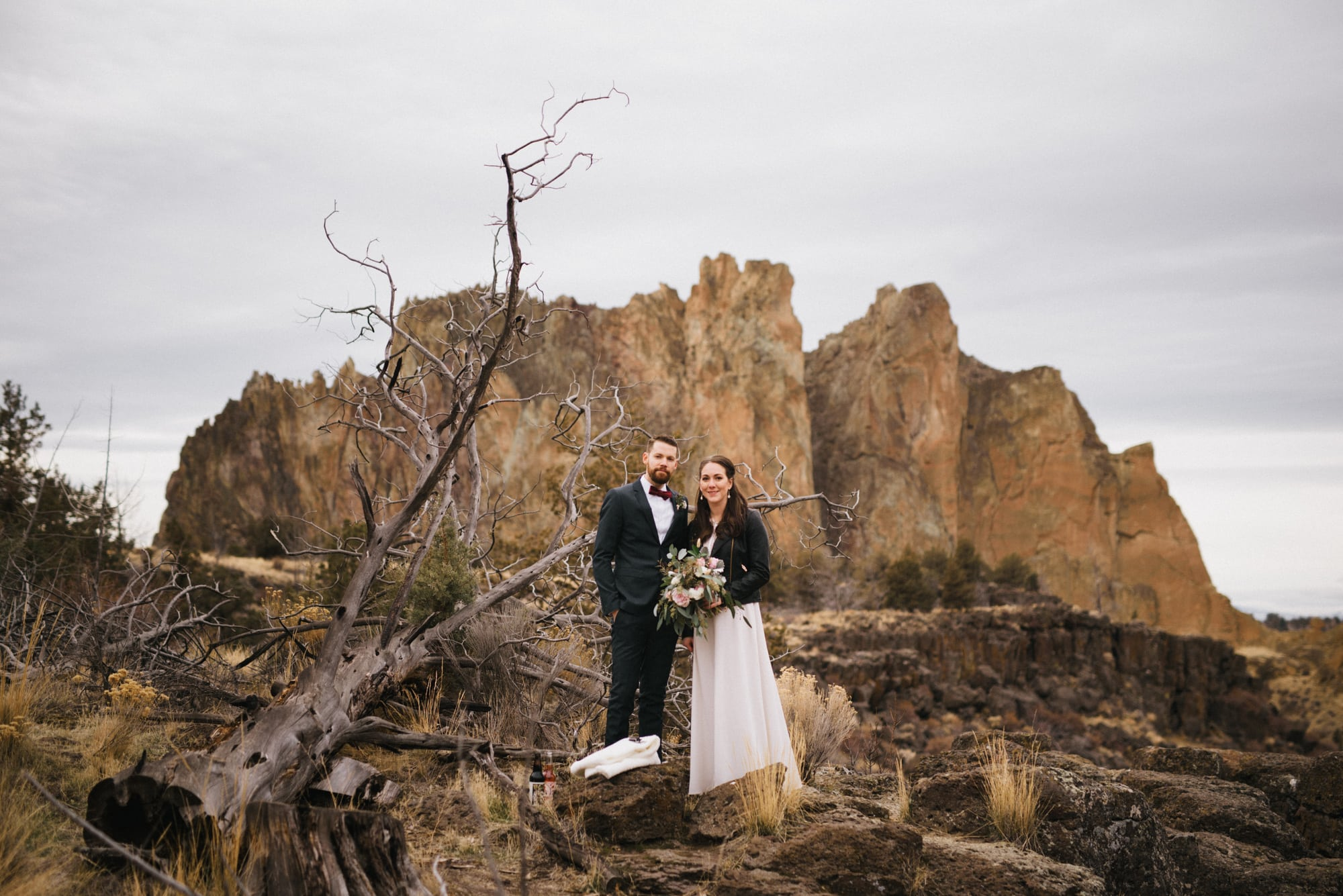 Smith Rock Elopement Small Wedding Photos Bend