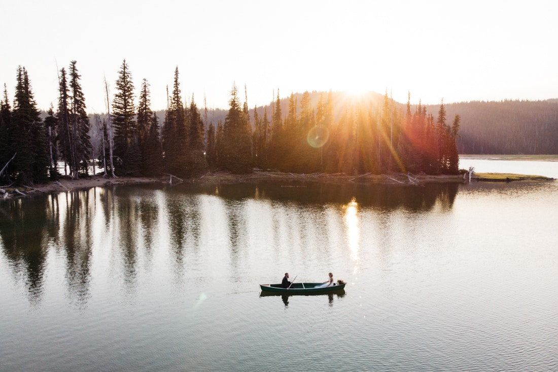 Sparks Lake Canoe Elopement