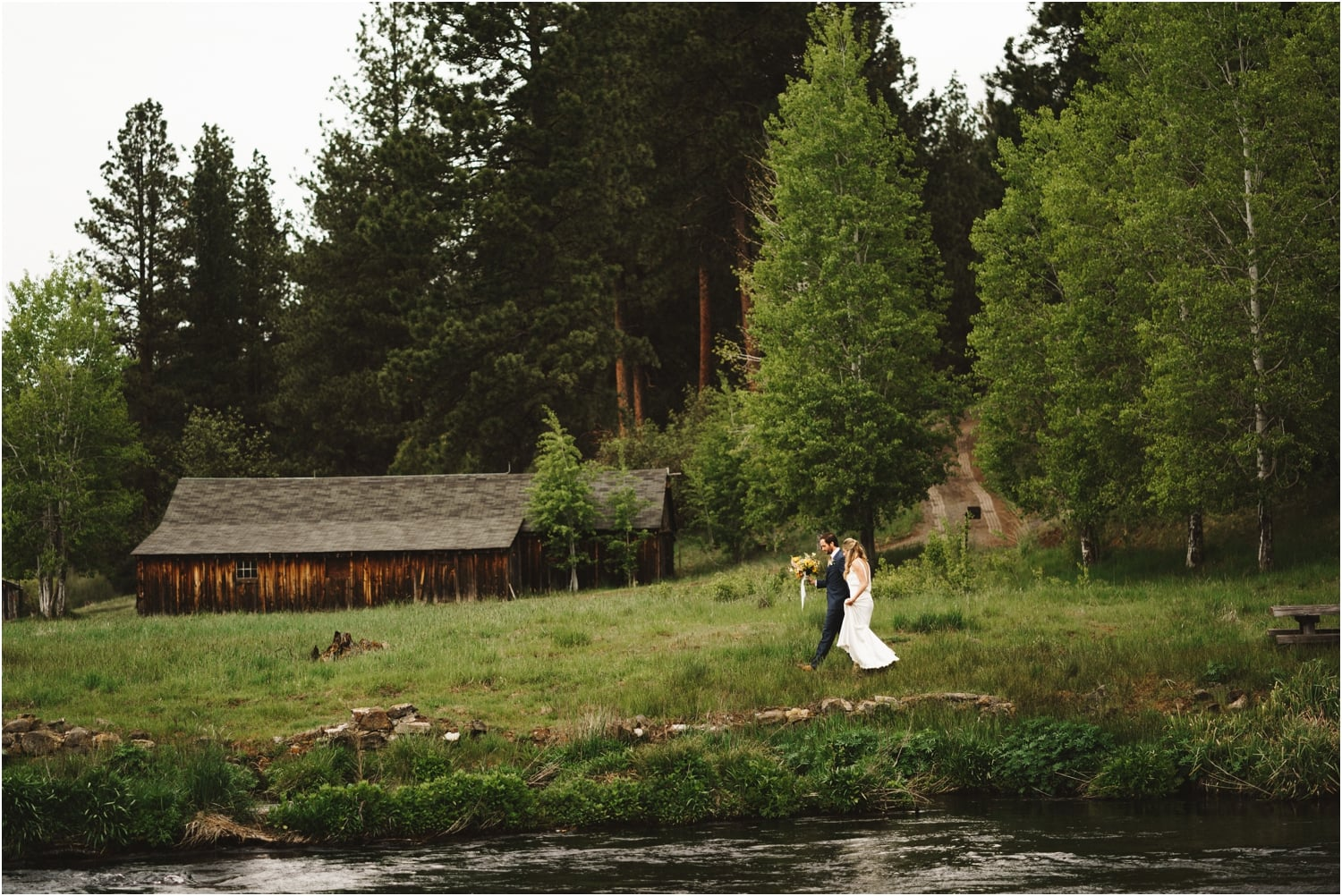 House on Metolius River Wedding