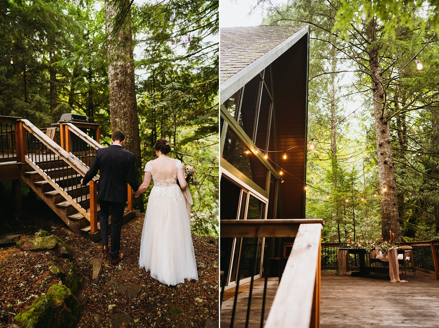 Oregon Elopement at Welches A Frame